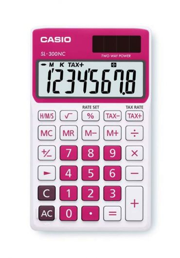 Calculator portabil 8 dg rosu