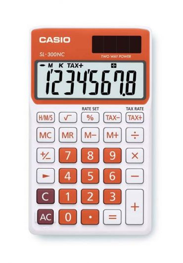 Calculator portabil 8 dg portocaliu