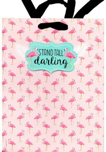 Punga cadou medie Flamingo - Stand tall darling
