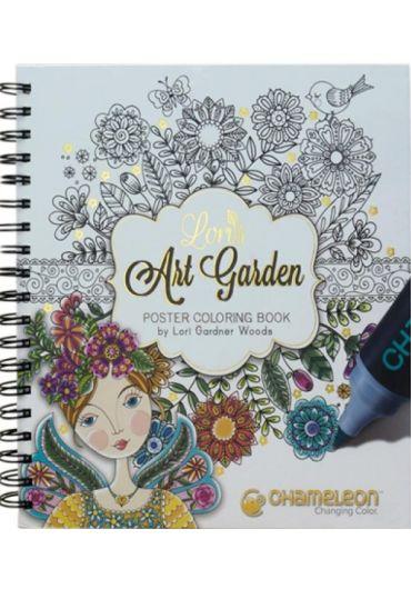Carte de colorat Lori's Art Garden