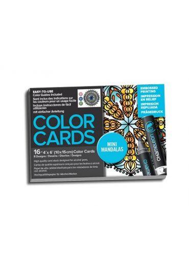 Set cartoane cu imagini pentru colorat Mini Mandalas