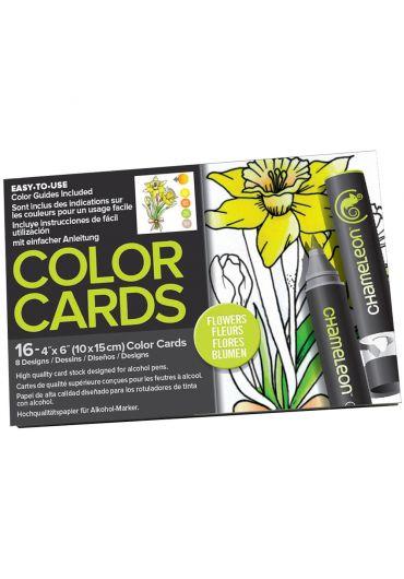 Set cartoane cu imagini pentru colorat Flowers