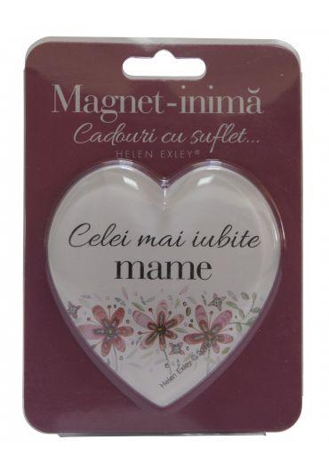 Magnet in forma de inima - Celei mai iubite mame