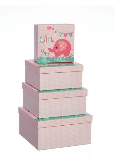 Cutie cadou - Pink Elephant 1/4