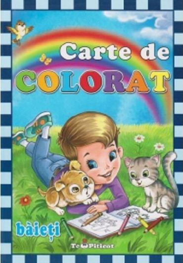 Carte de colorat - baieti
