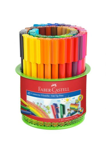 Carioca 45 culori connector + suport mesh