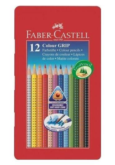 Creioane colorate 12 culori cutie metal grip 2001