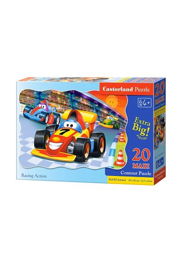 Puzzle 20 piese Maxi Racing Action