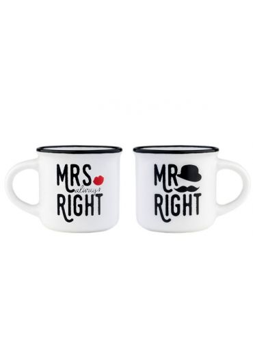 Set 2 cesti pentru espresso - Mr & Mrs