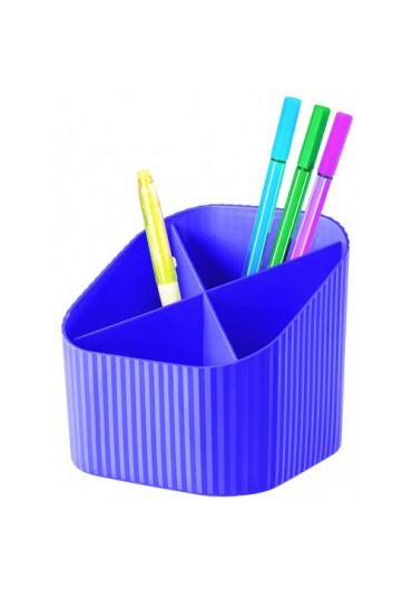 Suport pentru instrumente de scris 4 compartimente X-Loop lila