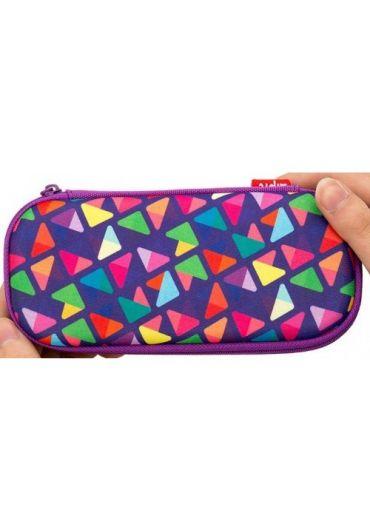 Penar cu fermoar Zipit Colorz box - triunghiuri violet