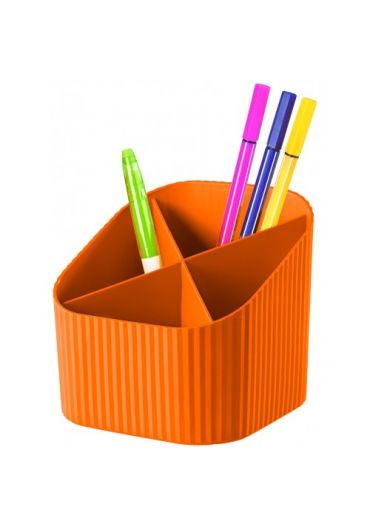 Suport pentru instrumente de scris 4 compartimente - orange