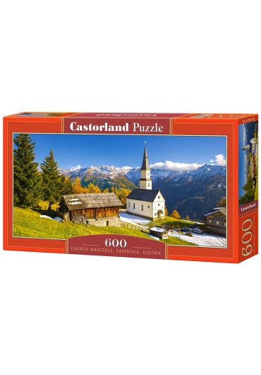 Puzzle Panoramic 600 piese Church Marterle - Carinthia Austria