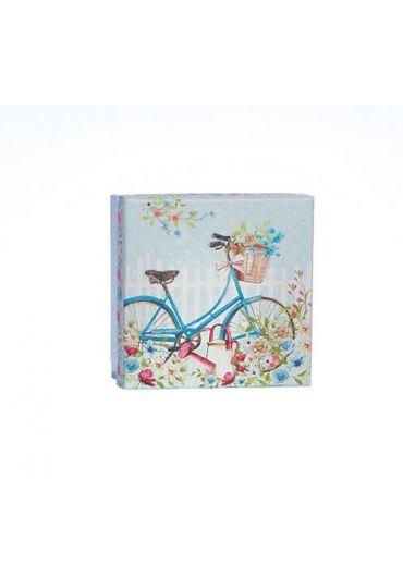 Cutie pentru cadou - Blue Bicycle Glitter, foarte mica