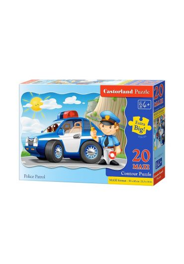 Puzzle 20 piese Maxi Police Patrol