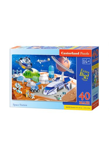 Puzzle 40 piese MAXI Space Station