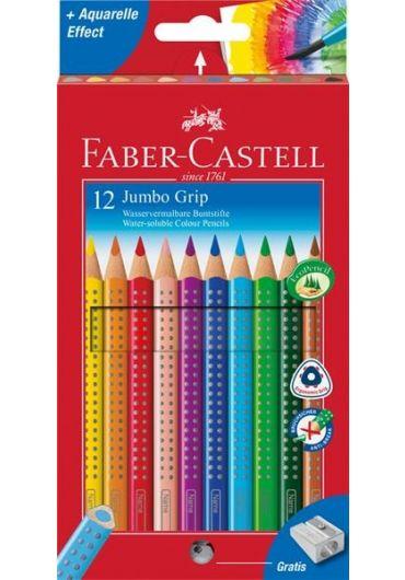Creioane colorate 12 culori + ascutioare Jumbo Grip