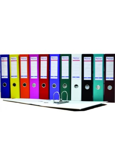 Biblioraft plastifiat 75 mm Optima Basic verde