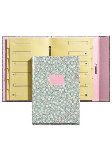 Mapa carton cu separatoare - Floral Sweet